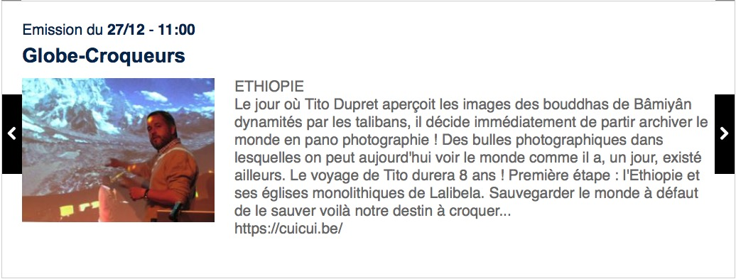 RTBF – La Première – Globe-Croqueurs – Ethiopie